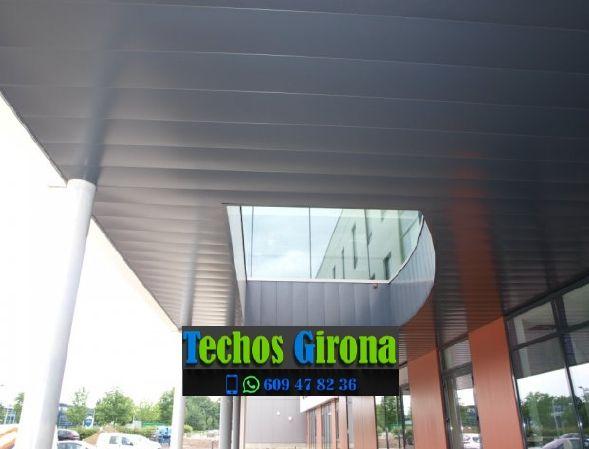 Instalación de techos de aluminio en Cistella Girona