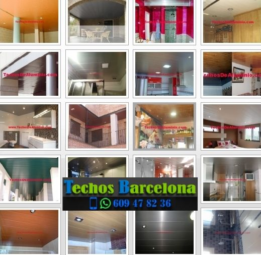 Montaje de techos de aluminio en Cerdanyola del Vallès Barcelona