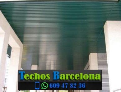 Montaje de techos de aluminio en Les Cabanyes Barcelona