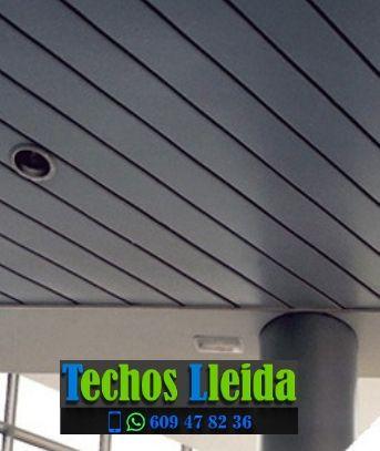 Techos de aluminio en Els Omells de na Gaia Lleida