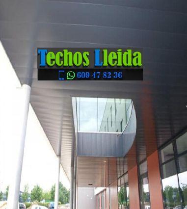 Techos de aluminio en Preixens Lleida